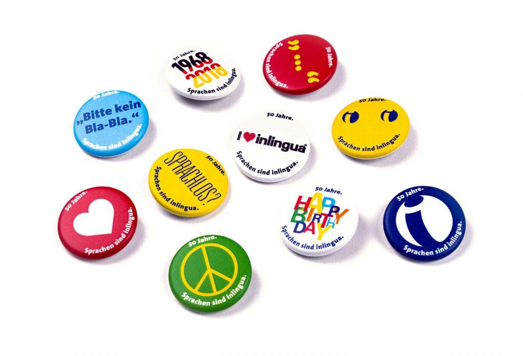 pharma werbung wegener inlingua kampagne buttons