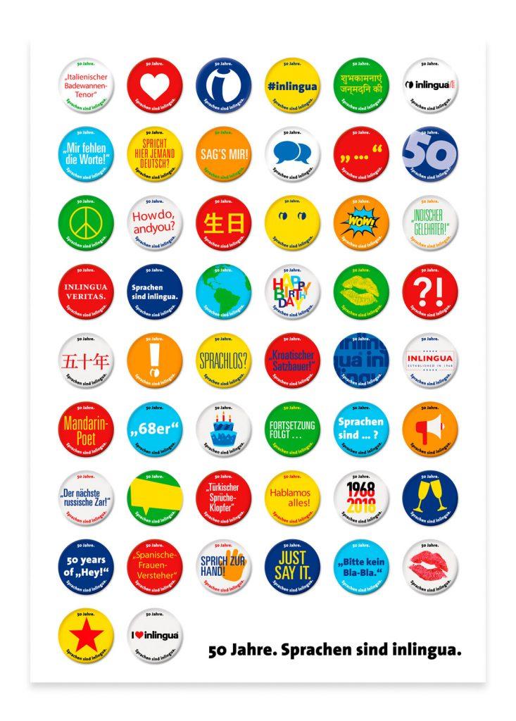 pharma werbung wegener inlingua kampagne poster