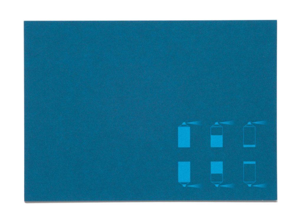 pharma werbung wegener msd tiergesundheit engemycin postkarte blau spray vorderseite