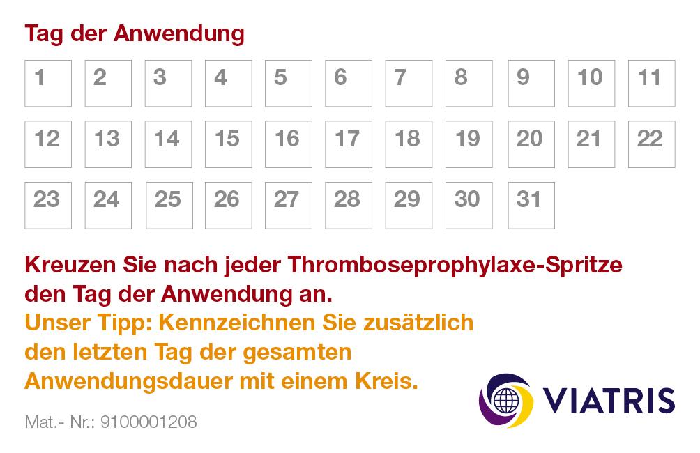 pharma werbung wegener mylan viatris monoembolex kalenderkarte